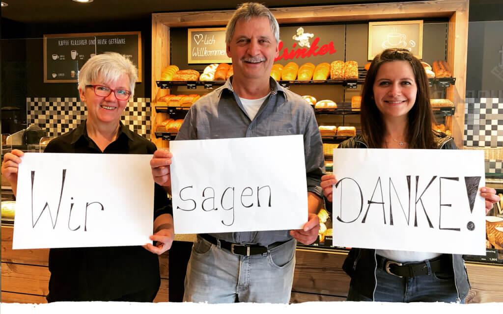 Wir sagen Danke! Bäckerei Brinker