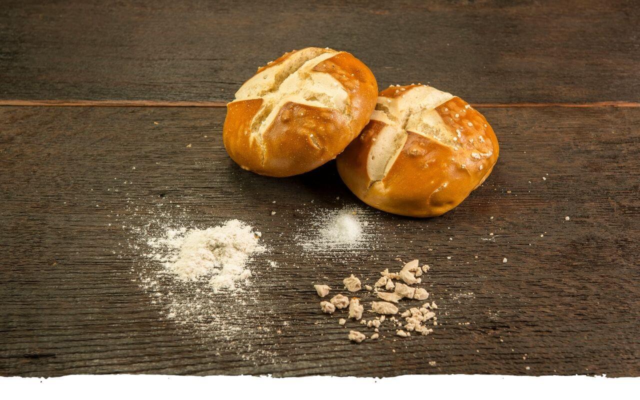 Laugenbrötchen von der Bäckerei Brinker