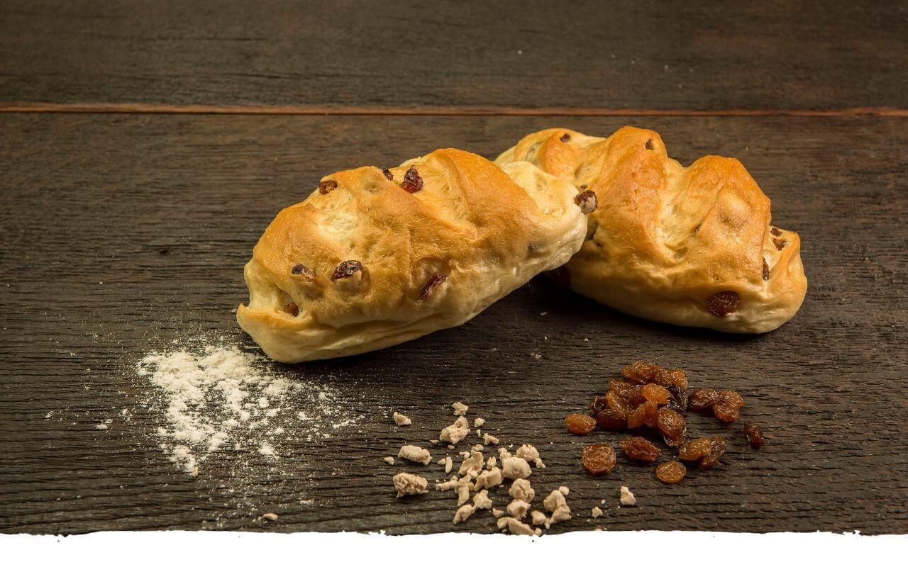 Rosinenbrötchen von der Bäckerei Brinker