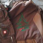 Weihnachtsbaumverkäufer Arbeitskleidung Bestickung